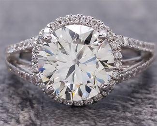 3.00 Carat Diamond Ring in 18k White Gold