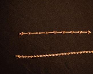 14 K CZ Bracelets