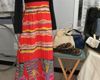 Vintage Maxi Dress Vintage Handbags
