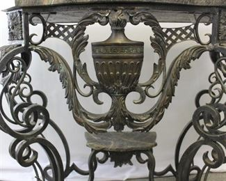 Theodore and Alexander Marble & Iron Entry Table