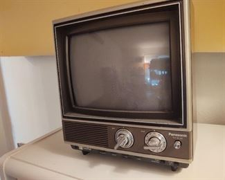 Awesome vintage cable ready portable color Panasonic television