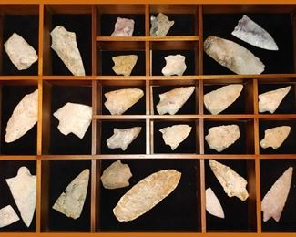 Arrow Heads and Spears Collection; Information with the Collection States that All Were Found on the Estate