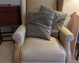 Queen Ann style wingback Recliner