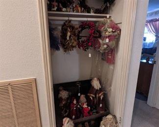 Old foot locker and Christmas decor