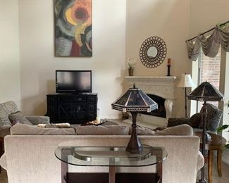 Desk lamp and Floor Lamp matching Stained Glass Elegance