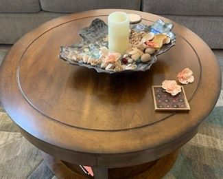 Wooded Coffee Table and Art Decor Handmade Bowl
