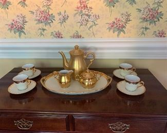 Bareuther Cups and Saucers....4 Pc Tea Service Sold Separetly