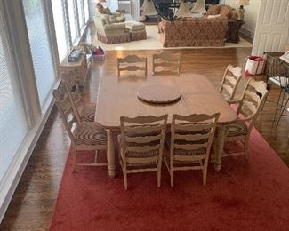 French Country Dining Table with 8 Chairs