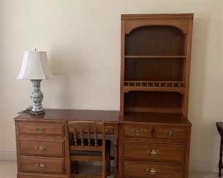Dixie Furniture Student Desk and Chest with Bookcase