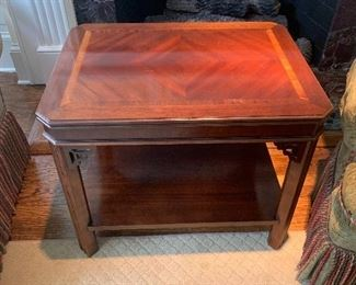 Lane Side Table with Fretwork