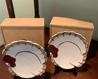 Pottery Barn Gobble Plates