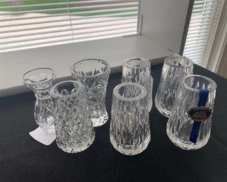 Crystal Bud Vases