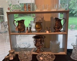 Cut Glass Crystal and Silverplate