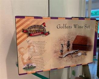Golfers Wine Set