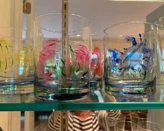 Beach themed Cocktail Glasses