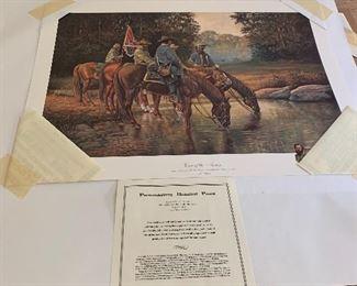 "Fredricksburg Historical Print Signed by Joe Umble...""Eyes of the Army"""