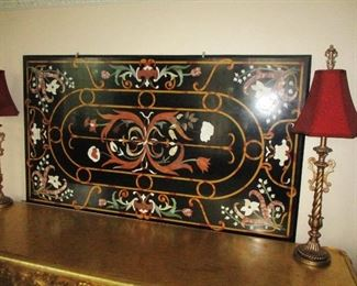 Pietra Dura Mosaic Table Top Beginning Bid Only $495.00!!