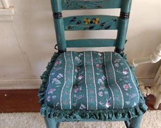 Vintage painted chair