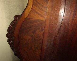 Victorian mahogany bed