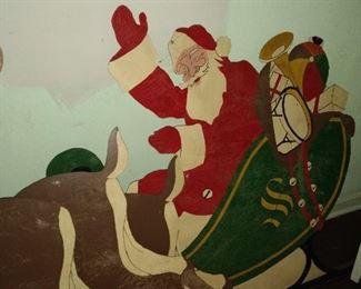 Vintage hand painted Santa