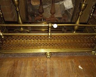 Antique fireplace fender