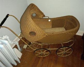 Vintage doll buggy
