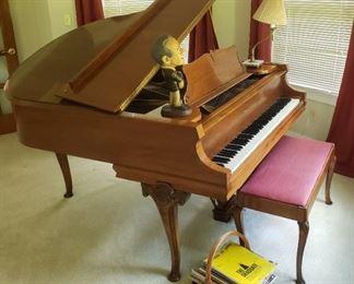 Mason & Hamilton Baby Grand Piano & Bench B Model # 71146 Art Case Design