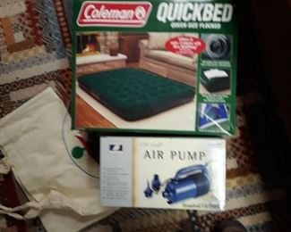 Coleman airbed with pump