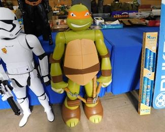 4ft tall Michelangelo TMNT action figure