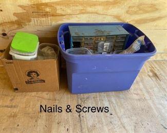 Nails Screws Lot