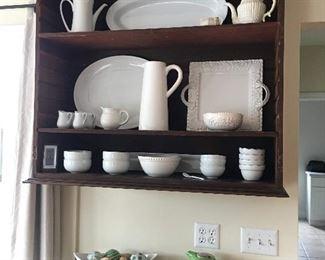 white ironstone dishes
