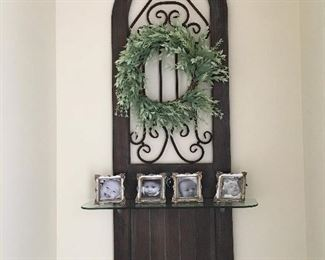 adorable what not shelf/wreath