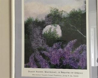 Mackinac Island poster framed and matted