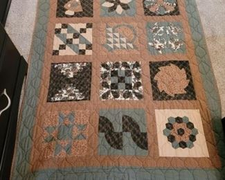 ONE OF MANY HOME MADE QUILTS