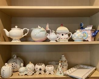 SOME OF OVER 100 TEAPOTS
