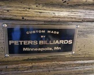 "1970's Custom Built by the ""original Peter"" of Peter's Billiards"