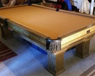 Custom Built 9ft Slate Pool table