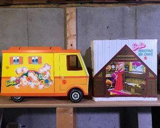 Barbie Mountain Ski Cabin; Barbie Country Camper.