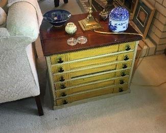 Antique J&P Coats Sewing Spool Cabinet