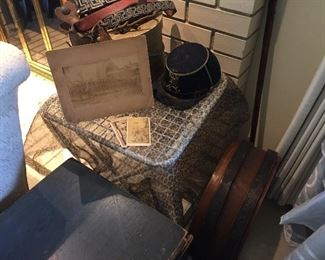 Collection of items from Brewster Sweet Rearick, a drummer boy in the Dwight Guards, 1874-7, a militia unit from Dwight, Illinois.