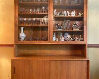 "Danish Hundevad Teak MCM Cabinet - 77""H x 54.5""W x 17""D - $420"