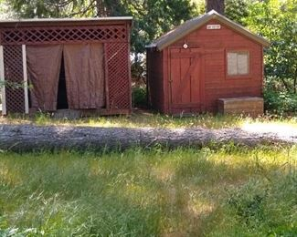 Two sheds that you can pick through.