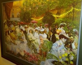 Print of Victorian people having a party