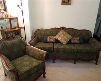 Parlor sofa and chair