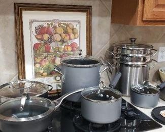 Tramontina, Calphalon, pots, pans