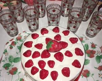 With Strawberry Tumblers