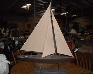 Large sail boat decor