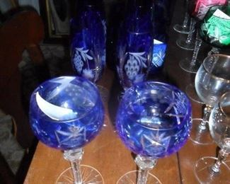 Bohiemian Cut to clear wine glasses