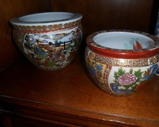 Asian style small flower pots