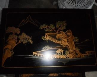 Top of Asian style nesting tables